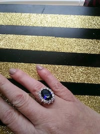 silver and blue gemstone ring Ponce Inlet, 32127