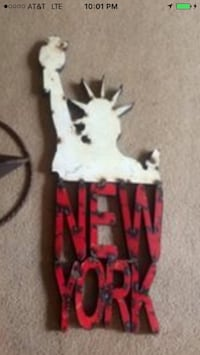 Hand crafted iron NY sign Holland, 49423