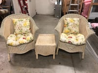 Wicker chairs with table New Berlin