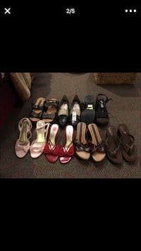 7 pairs of assorted-color heeled sandals Brooklyn Park, 55445