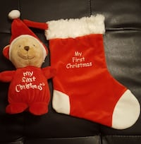 Baby's 1st Christmas Stocking & Teddy Bear Set