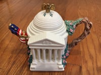 """Fits and Floyd """"Jefferson Memorial"""" Teapot (#236 of 5000) Bethesda"""