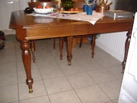 Antique walnut dining table with 2 large leaves