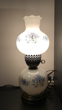 White and blue table lamp Burnaby, V5E 1W2