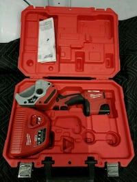 red and black Milwaukee cordless power tool with case 69 km