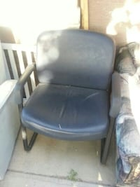 black leather padded rolling chair Las Vegas, 89104