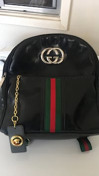 Original Black and Red Gucci Backpack