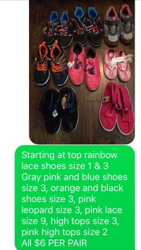 New children's shoes sizes on photo Little Rock, 72209