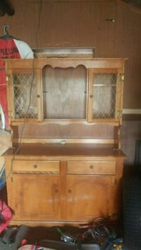 brown wooden cabinet with hutch Welland, L3B 1Z6