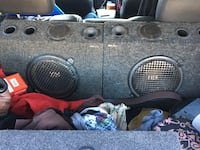 MTX subwoofer speaker 10 inch with twitters in box price negotiable nothing wrong with them more details message me