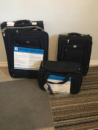 Brand new navy 3piece roller luggage Edmonton, T6E 0X4
