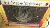 black and gray guitar amplifier Montreal, H8R 1E2
