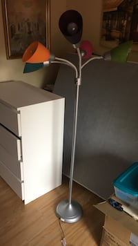 Multi colored floor lamp