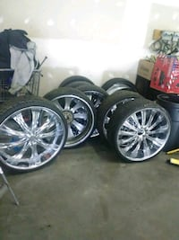"28"" Chrome Wheels and tires College Park, 20740"