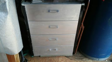 Black and silver 4 drawer cabinets