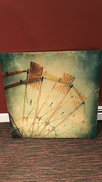 Gray and brown ferris wheel painting Atkinson, 03811