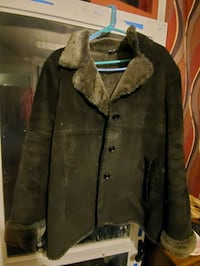 Suede and faux fur winter jacket