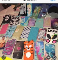 Assorted iphone cases and black iphone case