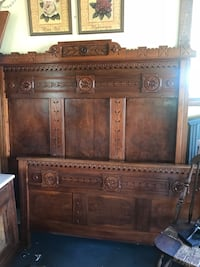 Antique Carved Double Bed Wake Forest, 27587