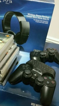 black Sony PS3 slim console with controller Brampton, L6T 2J7