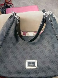 women's gray and black leather tote bag Colorado Springs, 80909