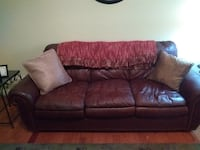 Brown leather couch East Brainerd