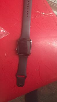 space gray aluminum case Apple Watch with black sports band