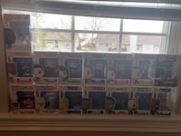 14 Funko pops (Bobble Head Decorations)