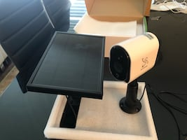 Weatherproof wifi security cameras with solar panel free storage