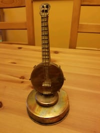 Miniature Banjo rotating music box plays oh Suzannah  copper Virginia Beach, 23464