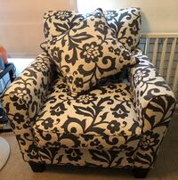 White and black floral sofa chair Morristown, 37813
