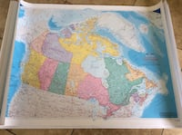 BRAND NEW CANADIAN MAP DIM 41.5x31.5 INCHES  Montréal, H9K 1S7