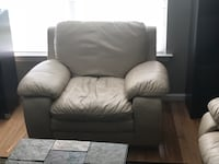 gray leather sofa chair with ottoman Silver Spring, 20902