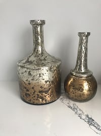 Two silver and gold ceramic vases Ottawa, K4A