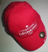 Novelty Canadian Drinking Cap with Bottle Opener  London
