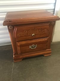 Wooden two draw nite stand  Lyndhurst, 07071