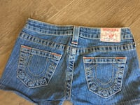 Size 25 Authentic True Religion Jean Shorts null