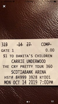 Carrie Underwood concert tickets !! Mississauga, L4W 1E3