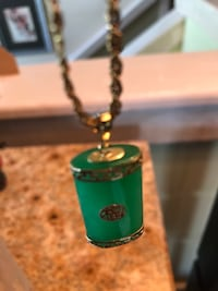 green and silver pendant necklace Kahului, 96732