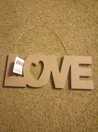"Wall decor ""love"""
