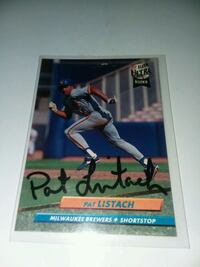 Pat Listach autographed card Watertown, 53094