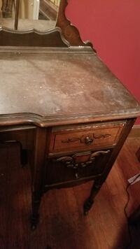 1960s Coffee Colored Vanity with attached Mirror ASHBURN