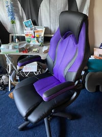 Purple Gamer Chair, Office chair