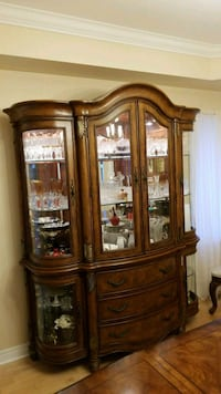 brown wooden framed glass china cabinet Richmond Hill, L4C 0R7