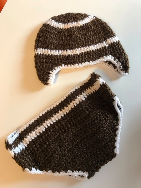 Used Baby Football Crochet Set For Sale In Inwood Letgo