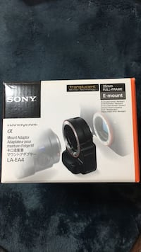 Sony alpha e-mount adaptor Manassas, 20109