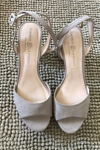 Nude chunky 3inch Heels (by Chinese Laundry
