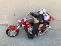 Musical dog couple on motorcycle  Los Angeles, 91311