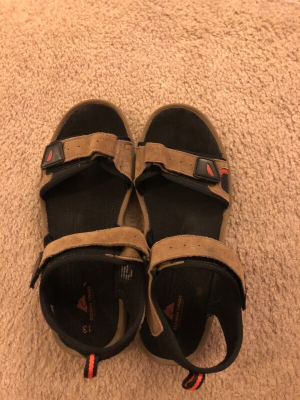 8b156390ee2 Used Pair of black open-toe ankle strap sandal Men s 13 for sale in Columbia  - letgo