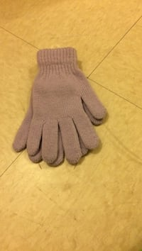 pair of gray gloves